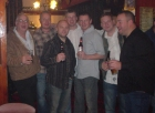 Pete, Biscuit (Ian), Danny, Me, Johnny Turbo, Brin, Rick